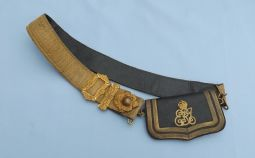 British EDVII Royal Artillery Officers Crossbelt & Pouch.  ref.ML111